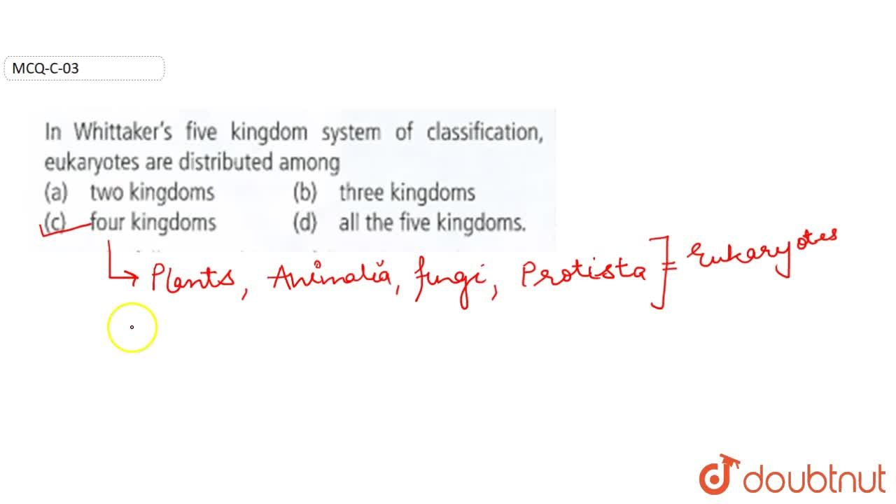 Solution for In Whittaker's five kingdom system of classificati