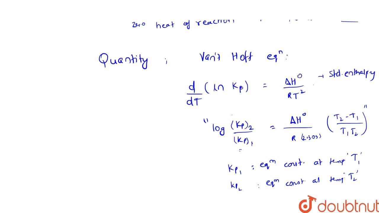 Solution for Types Of Chemical Equilibrium And Effect Of Temper
