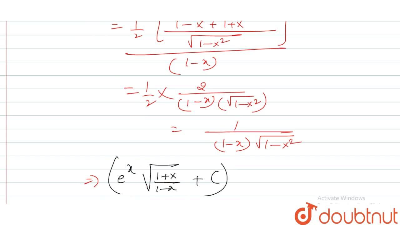 Solution for The integral inte^x(f(x)+f\'(x))dx can be solved