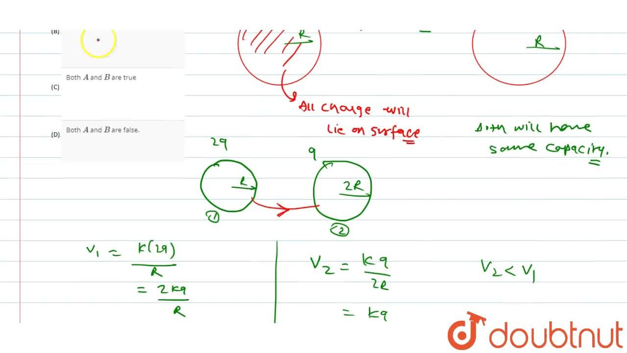 Solution for Statement (A): A solid conducting sphere holds mor
