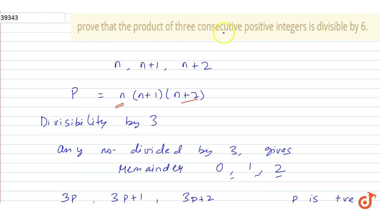 Solution for prove that the product of three consecutive positi