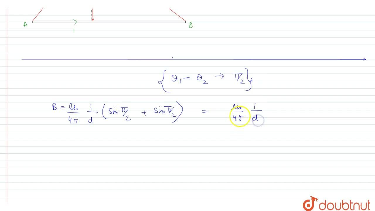 Solution for Write the relation for the magnetic field inductio