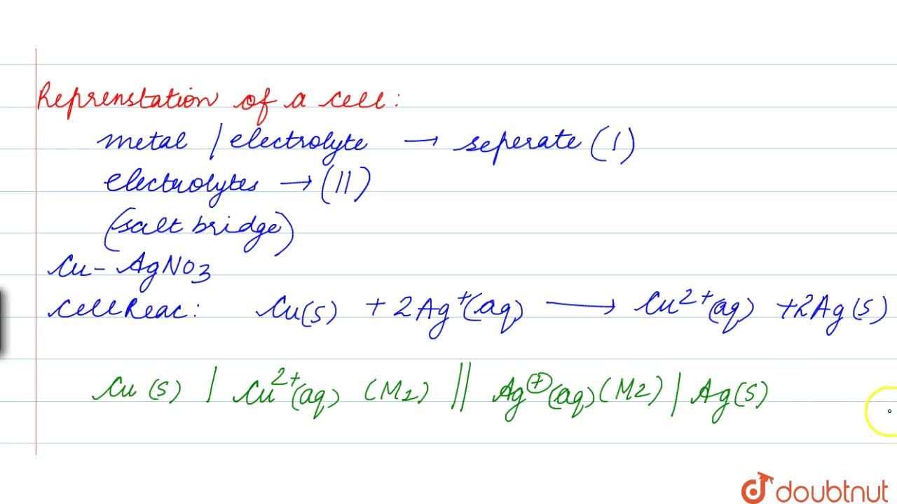 Solution for Salt Bridge And Representation Of Cell