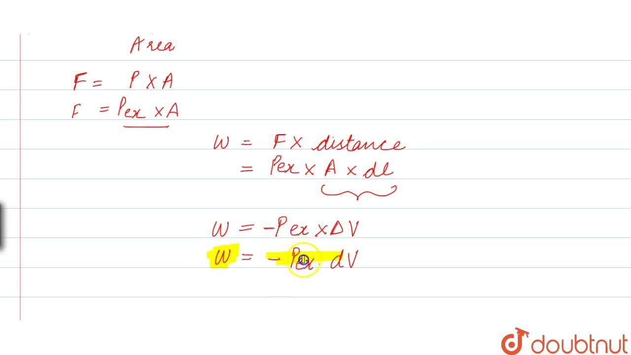 Solution for Definition And Pv Work