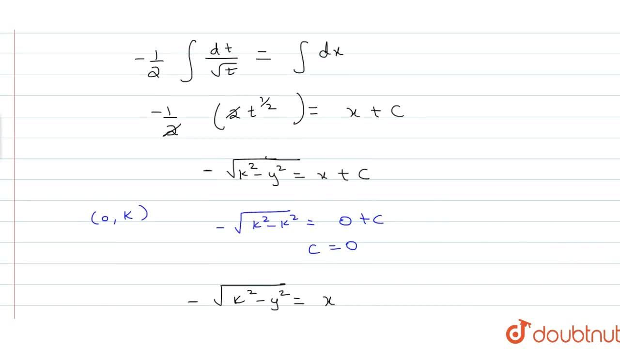 A normal is drawn at a point P(x,y) of a curve. It meets the x-axis at Q such that PQ is of constant length k. Answer the question:If the curve passes through the point (0,k), then its equation is (A) x^2-y^2=k^2 (B) x^2+y^2=k^2 (C) x^2-y^2=2k^2 (D) x^2+y^2=2k^2