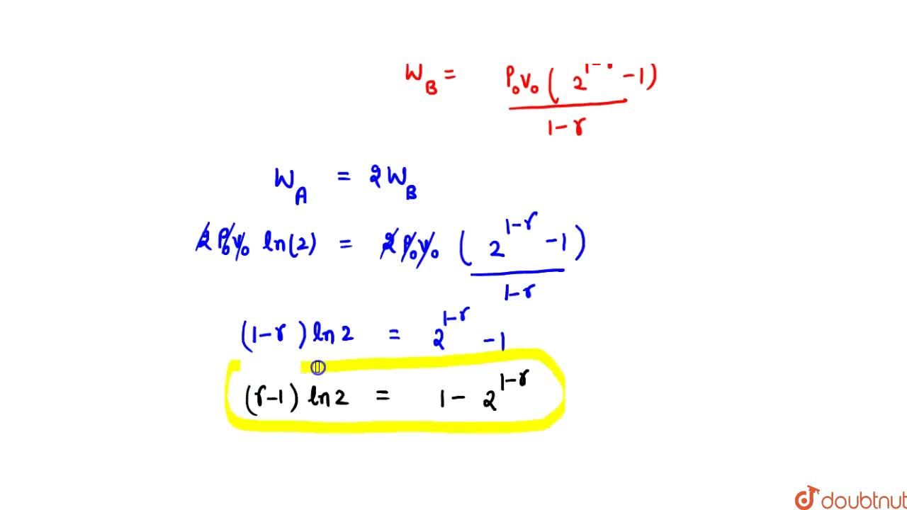 Solution for Two samples A and B of the same gas have equal