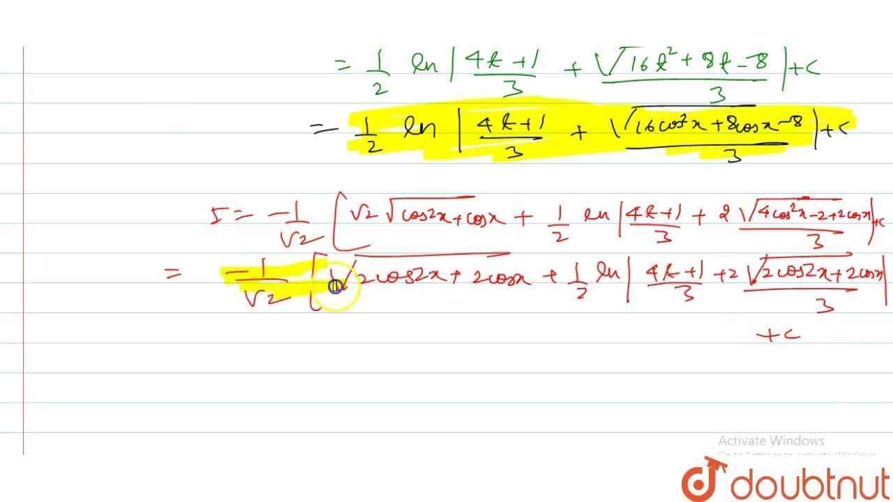Solution for int(sinx+sin2x),sqrt(cosx+cos2x)dx