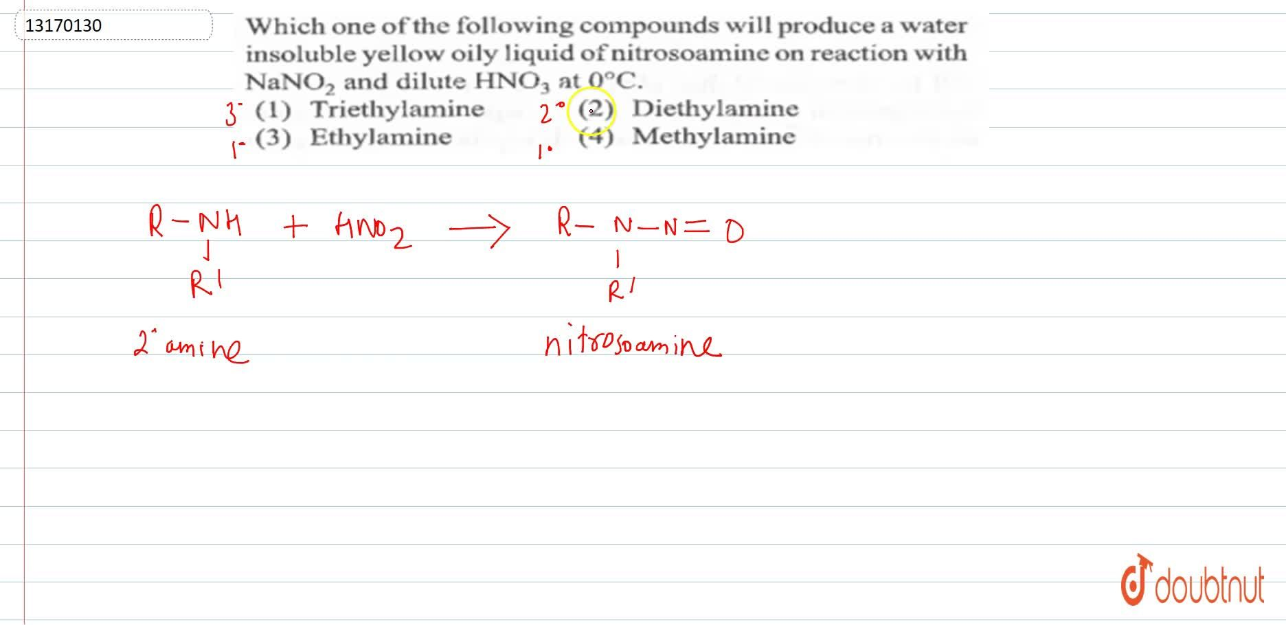 Solution for Which one of the following compounds will produce