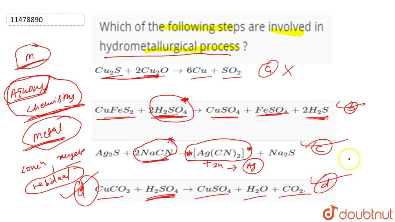 Solution for Which of the following steps are involved in hydro