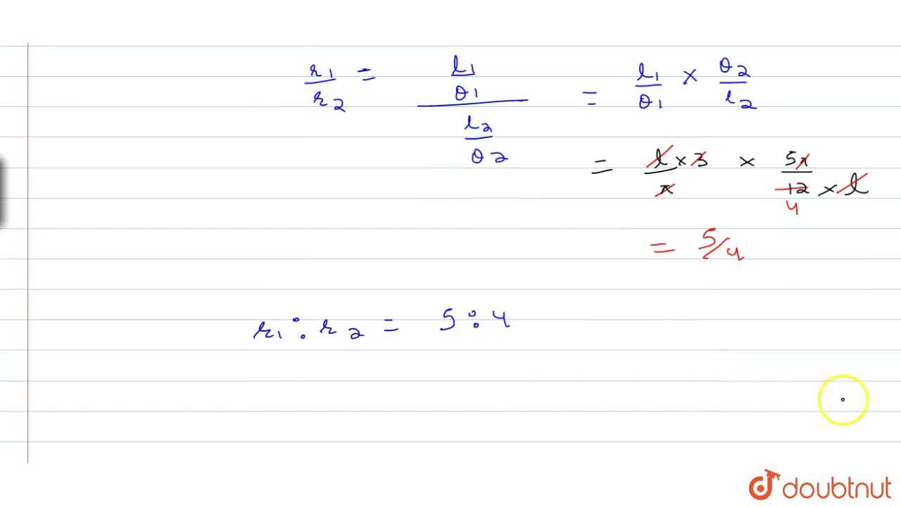 Solution for In two circles, arcs of equal length subtend angle