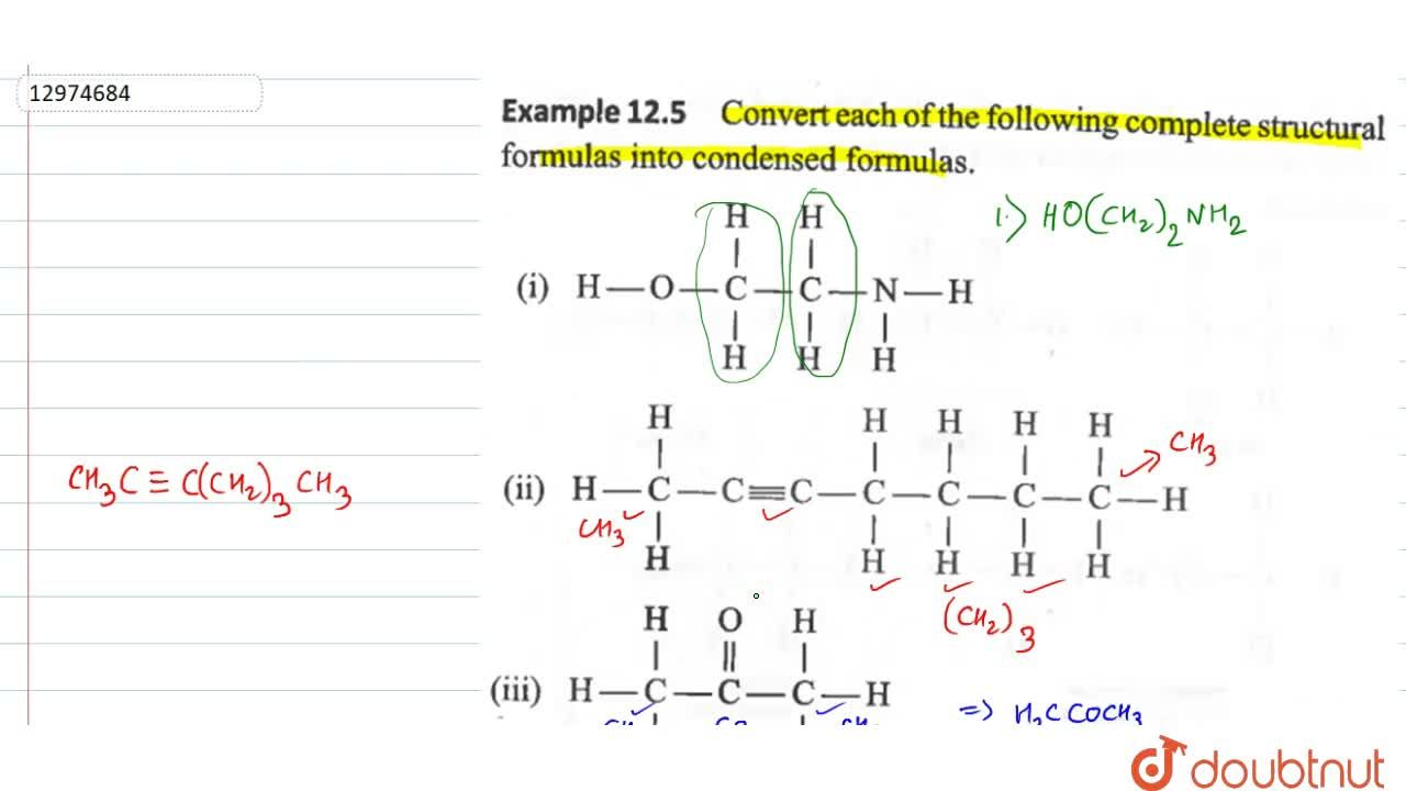 Solution for Convert each of the following complete structural