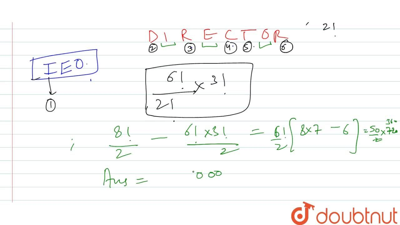 Solution for Inhow many ways can the letters of the word DIRECT