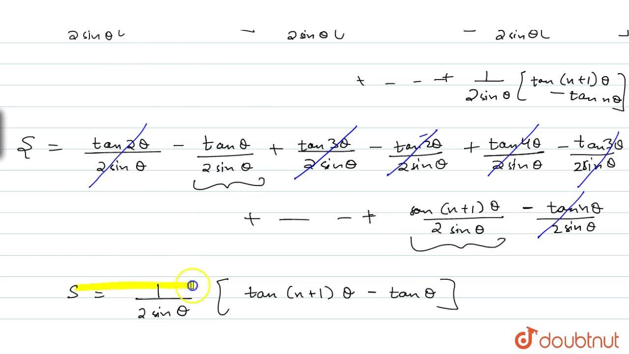 Solution for Find the sum of n terms the series: 1,(costheta+c