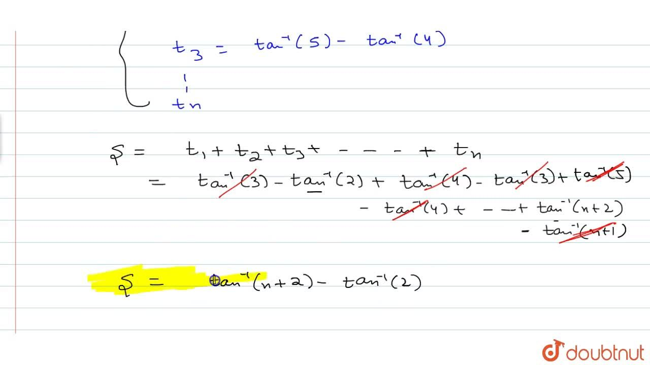 Solution for Find the sum tan^-1 (1,(3+3.1+1^2))+tan^-1 (1,(3+