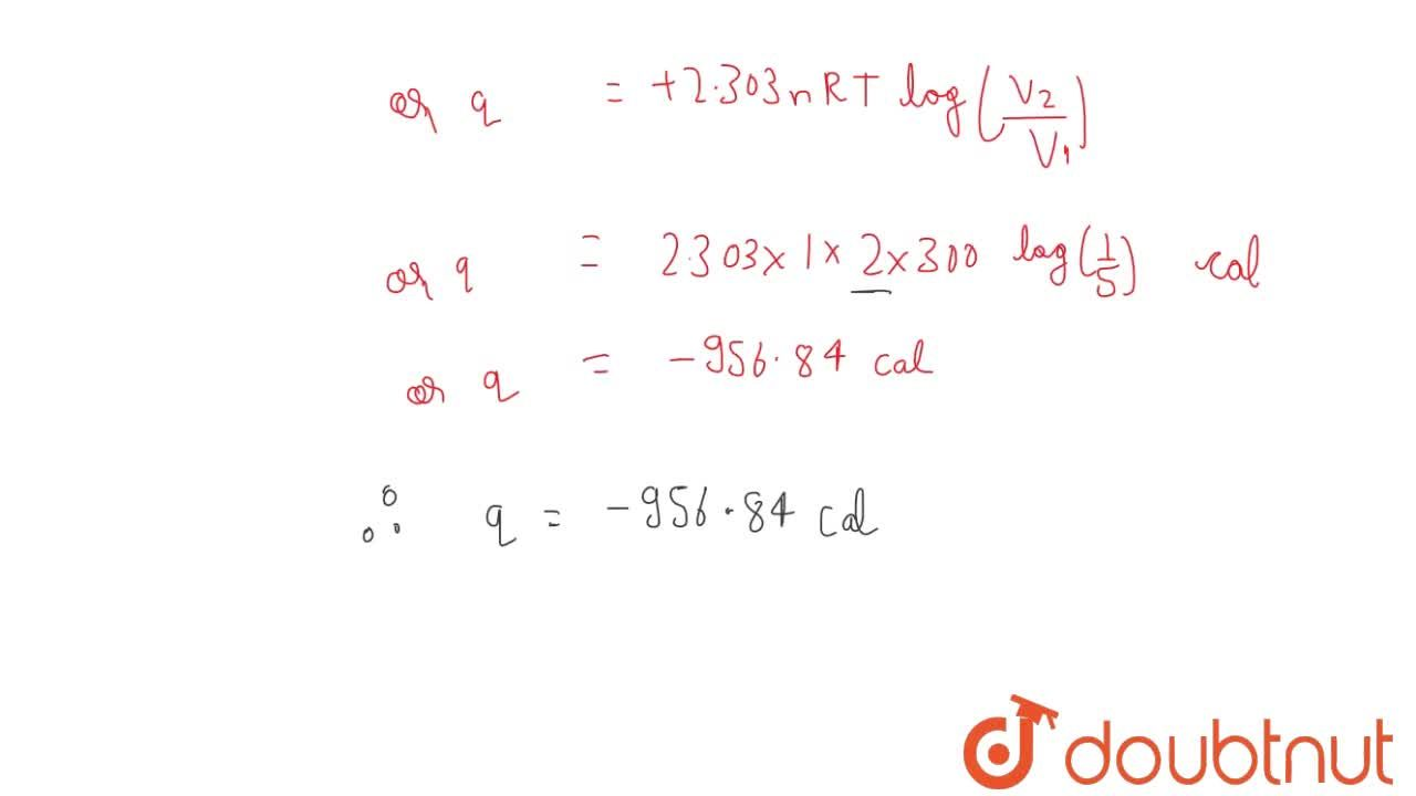 Solution for At 27^(@)C, one mole of an ideal gas is compress