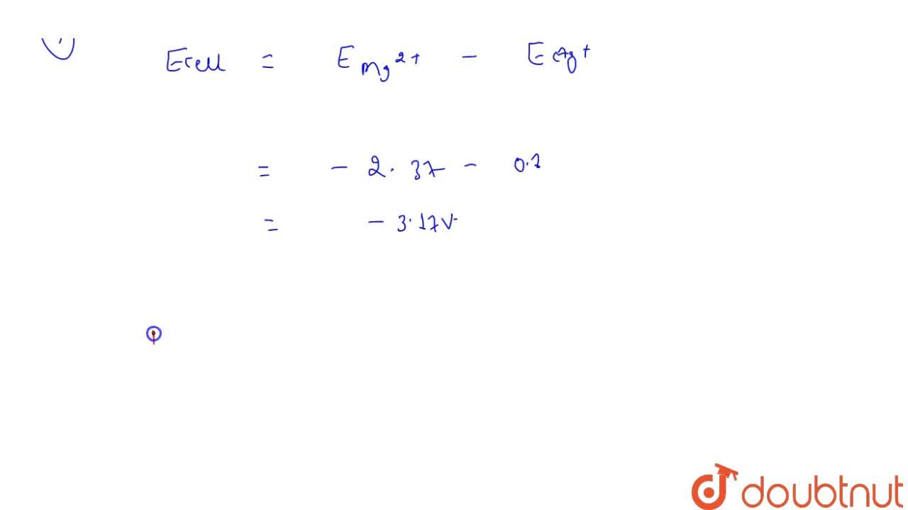 Solution for E^(@) (SRP) of different half cell given <br> {