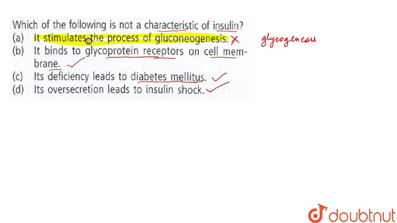 Which of the following is not a characteristic of insulin?