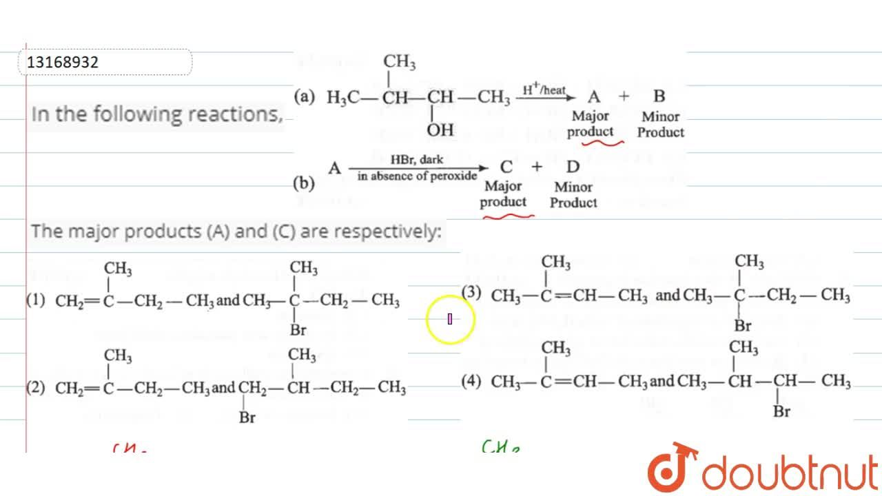 Solution for In the follwing reactions,  <br> (a) H_(3)C-overs