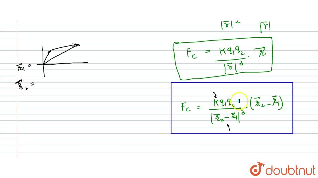 Solution for COULOMB'S LAW IN VECTOR FORM