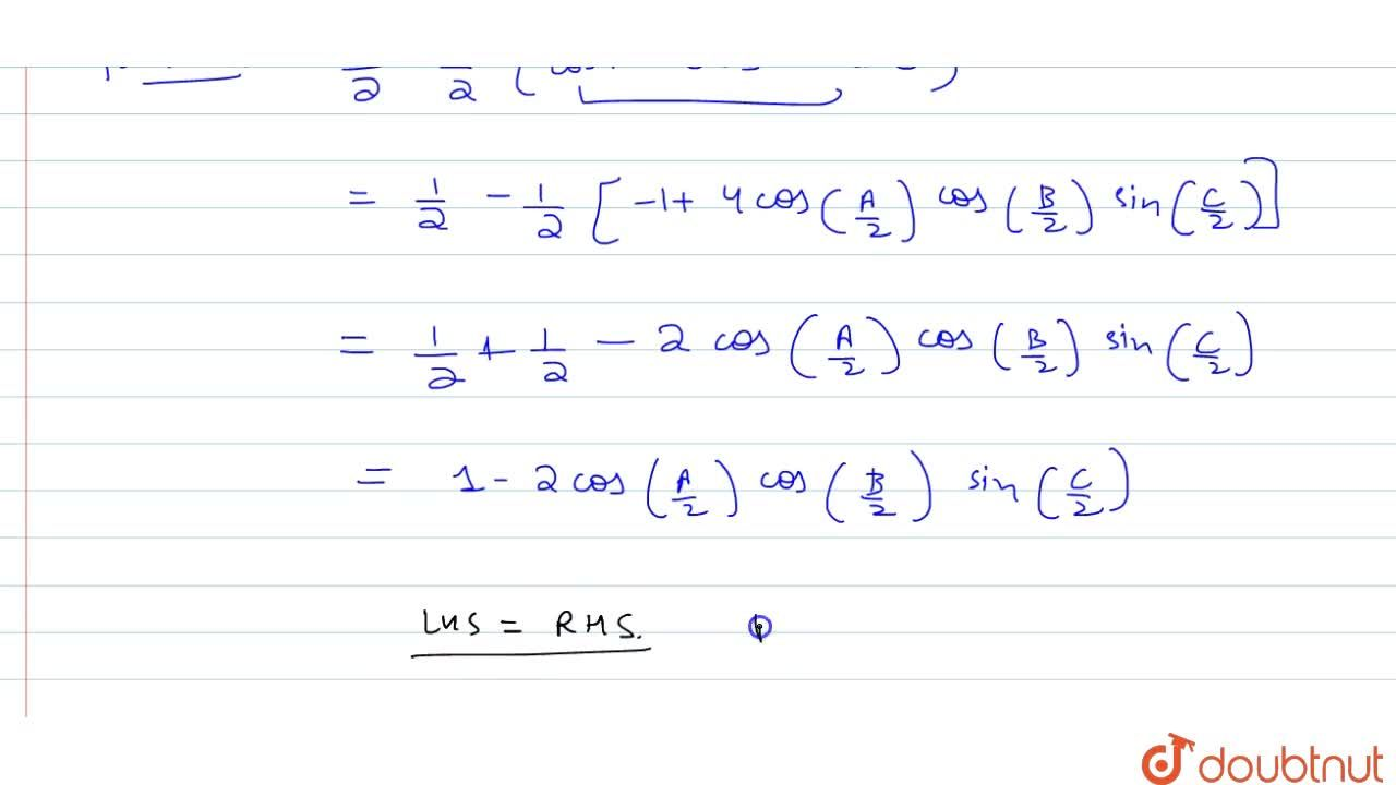 Solution for If A+B+C=pi , prove that : sin^2( A,2) + sin^2(