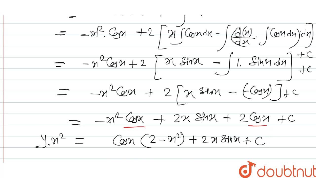 Solution for अवकल समीकरण sin^(-1)(dy,dx+(2y),x)=x का हल ज्ञात