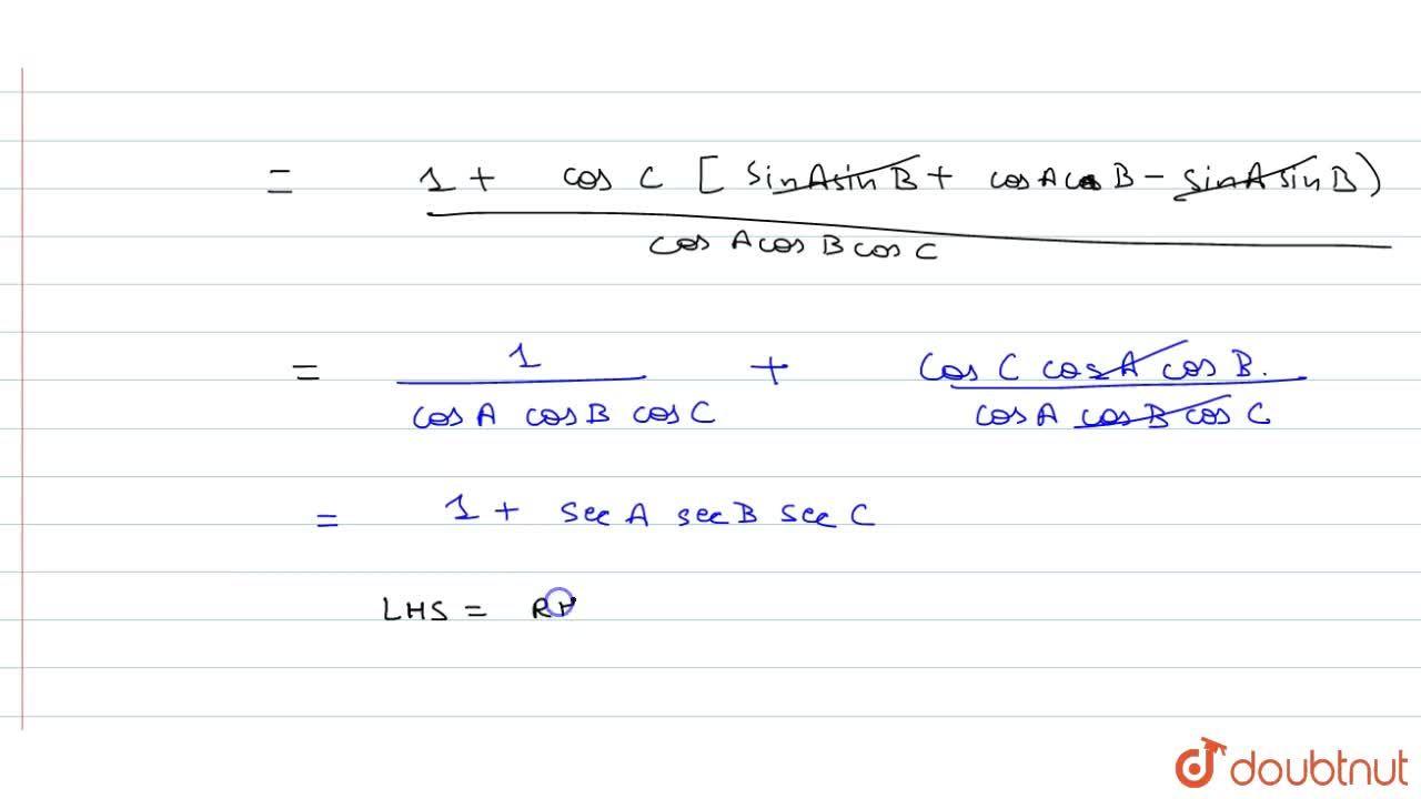 Solution for If A+B+C=pi, prove that : (tanA+tanB+tanC) (cot