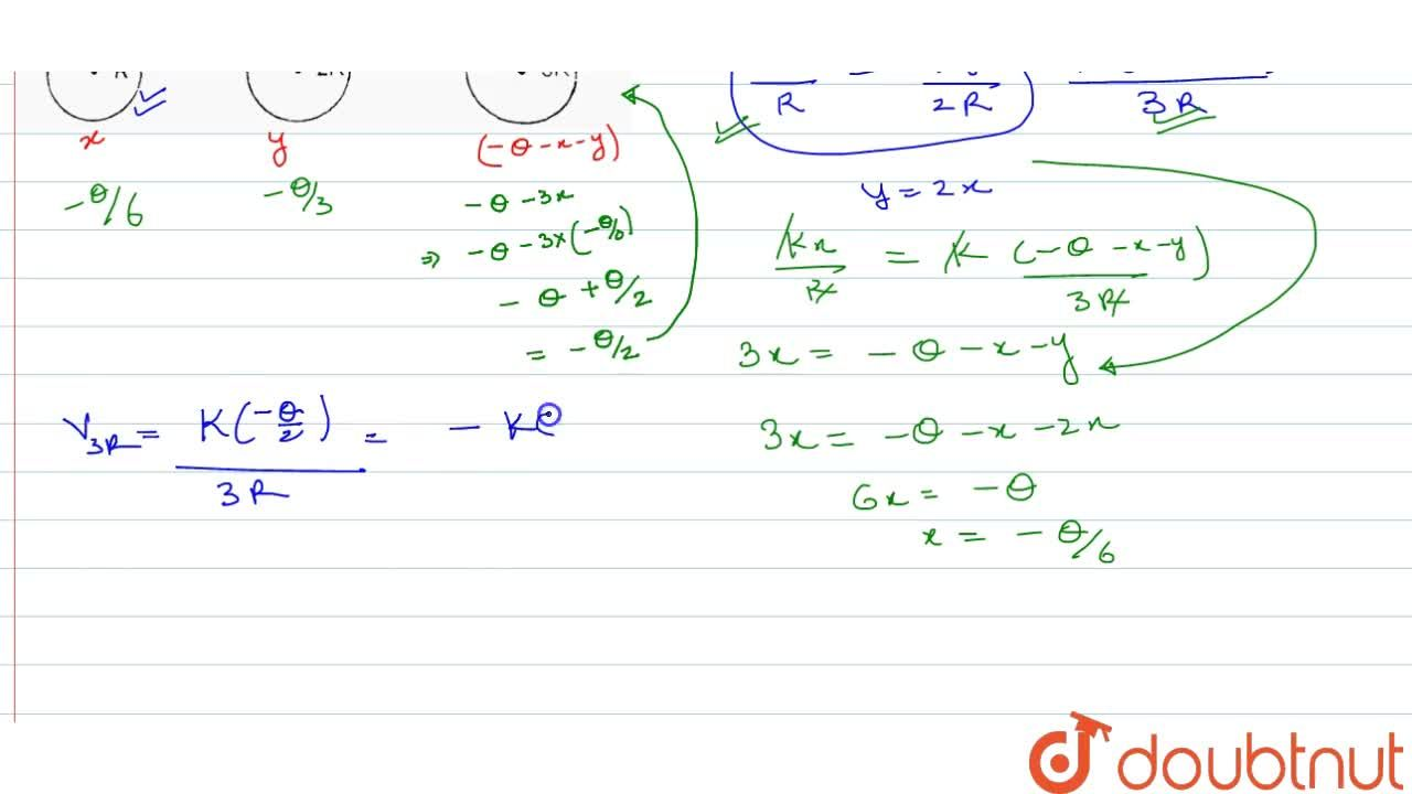 Solution for Two conducting spheres of radius R and 3R carry ch