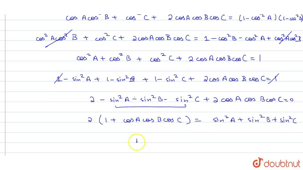 Solution for If A+B+C=180^0, prove that : sin^2 A + sin^2 B