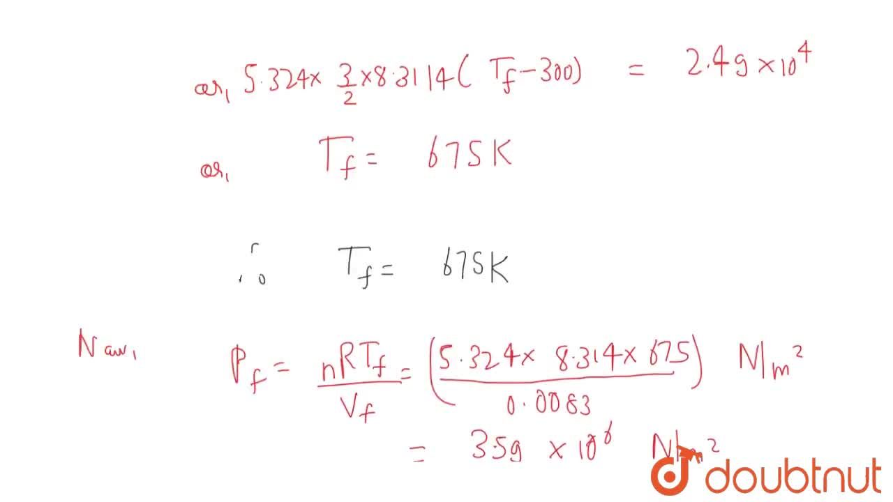 Solution for An ideal gas has a specific heat at constant press