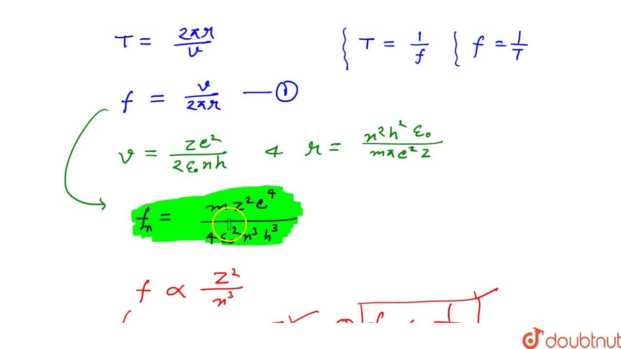 Solution for Orbital Frequency Of Electron