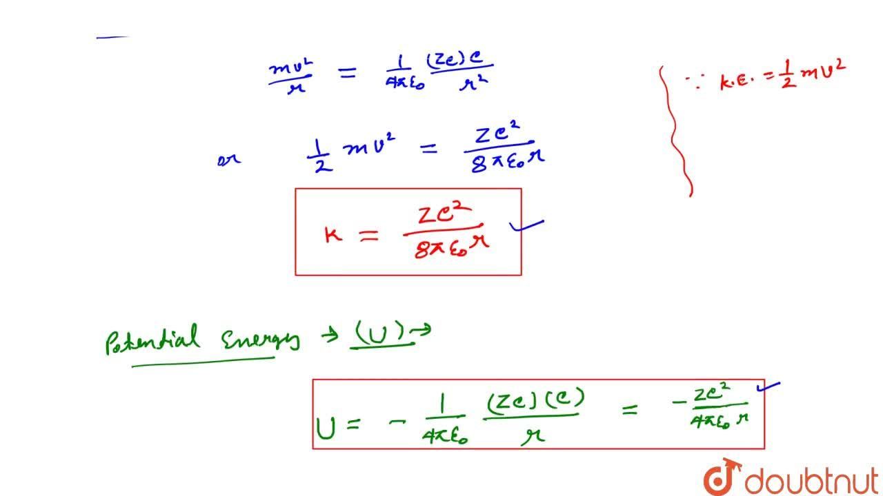 Solution for Energy Of Electron In Nth Orbit