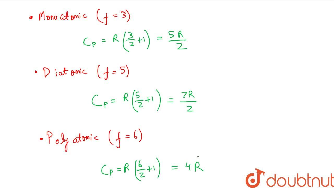 Solution for Relation Between Specific Heat And Degree Of Freed