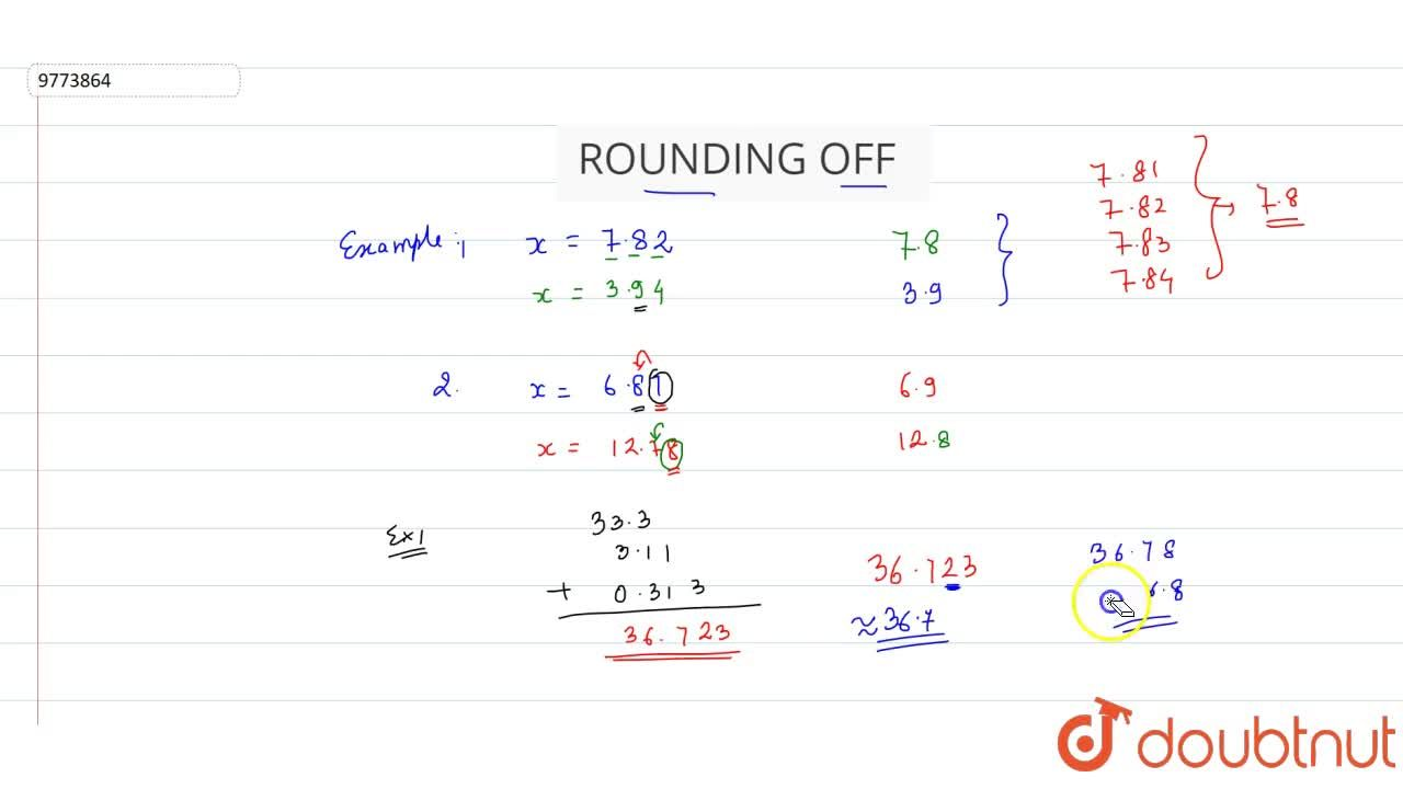 Solution for Rounding Off