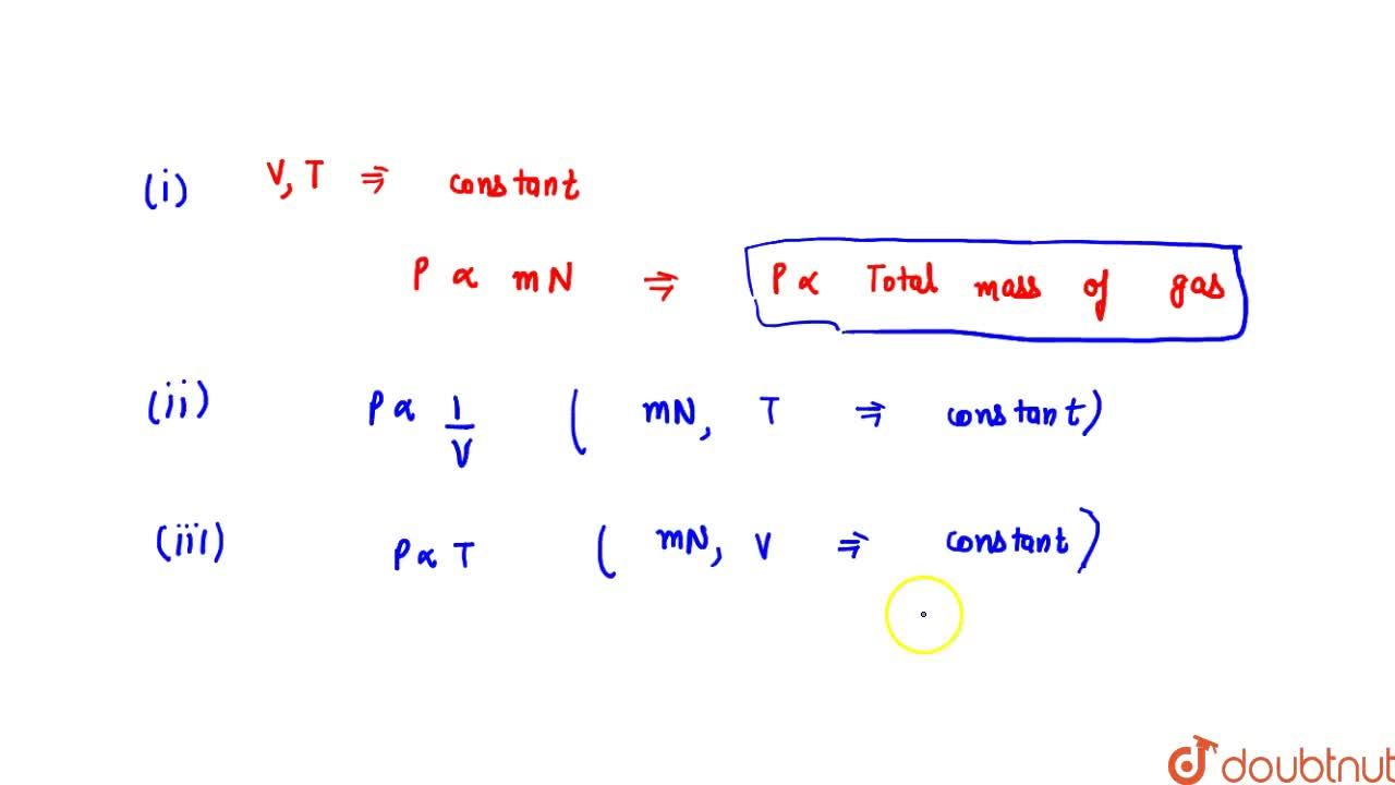 Solution for Pressure Of An Ideal Gas