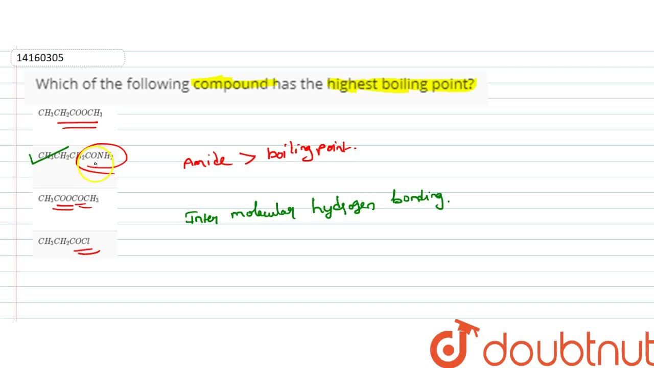 Solution for Which of the following compound has the highest bo