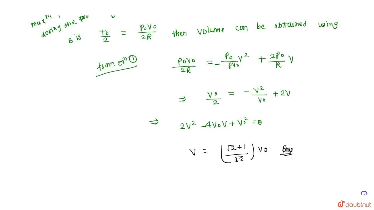 Solution for One mole of an ideal gas is expanded from the stat