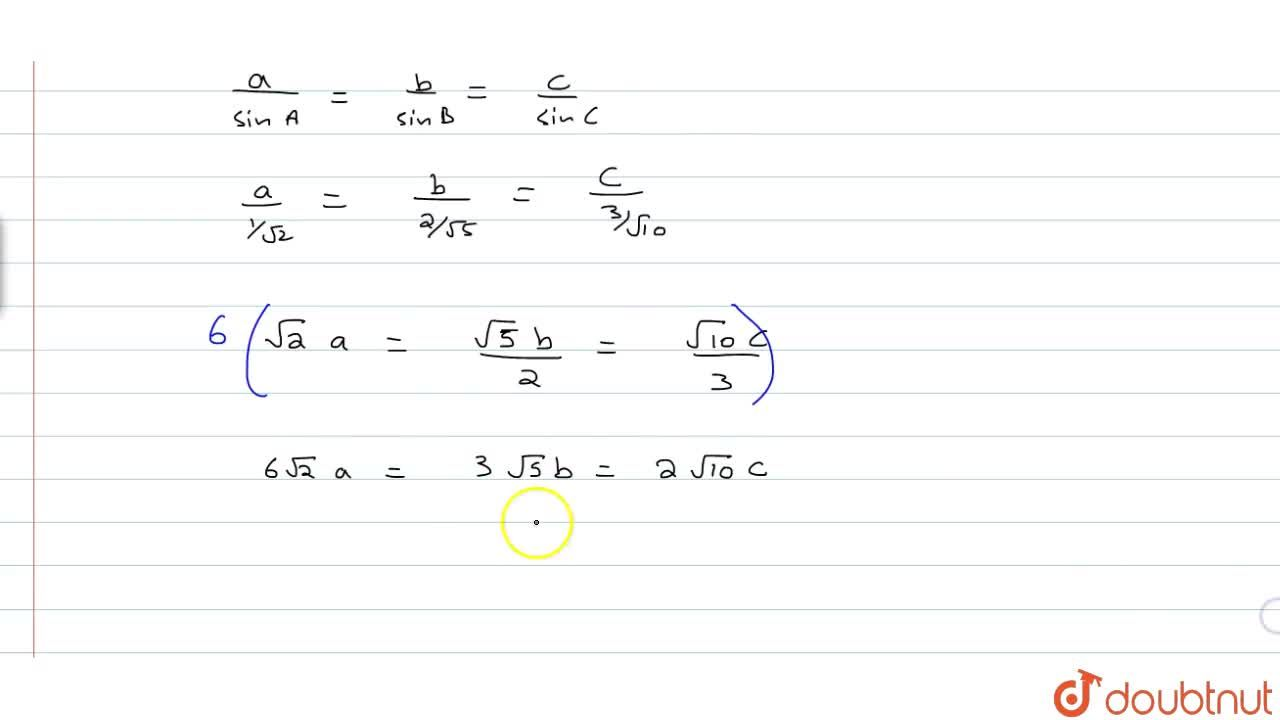 Solution for If in a triangle ABC, (tanA),1= (tanB),2 = (tanC)