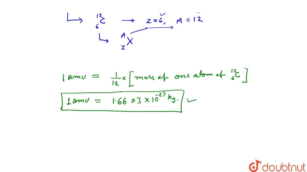 Solution for Atomic Mass Number