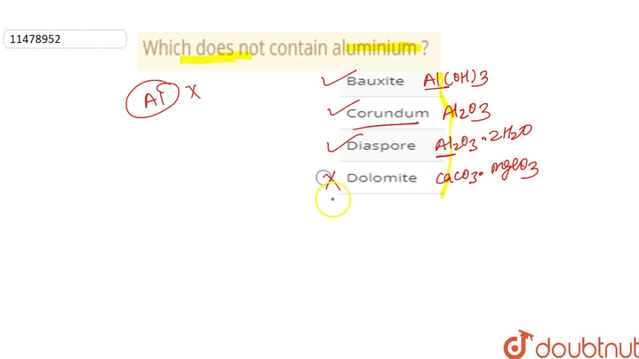Solution for Which does not contain aluminium ?