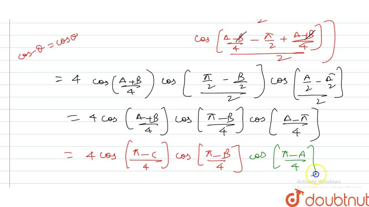 Solution for If A+B+C=pi, prove that : sin ((B+C),(2)) + sin