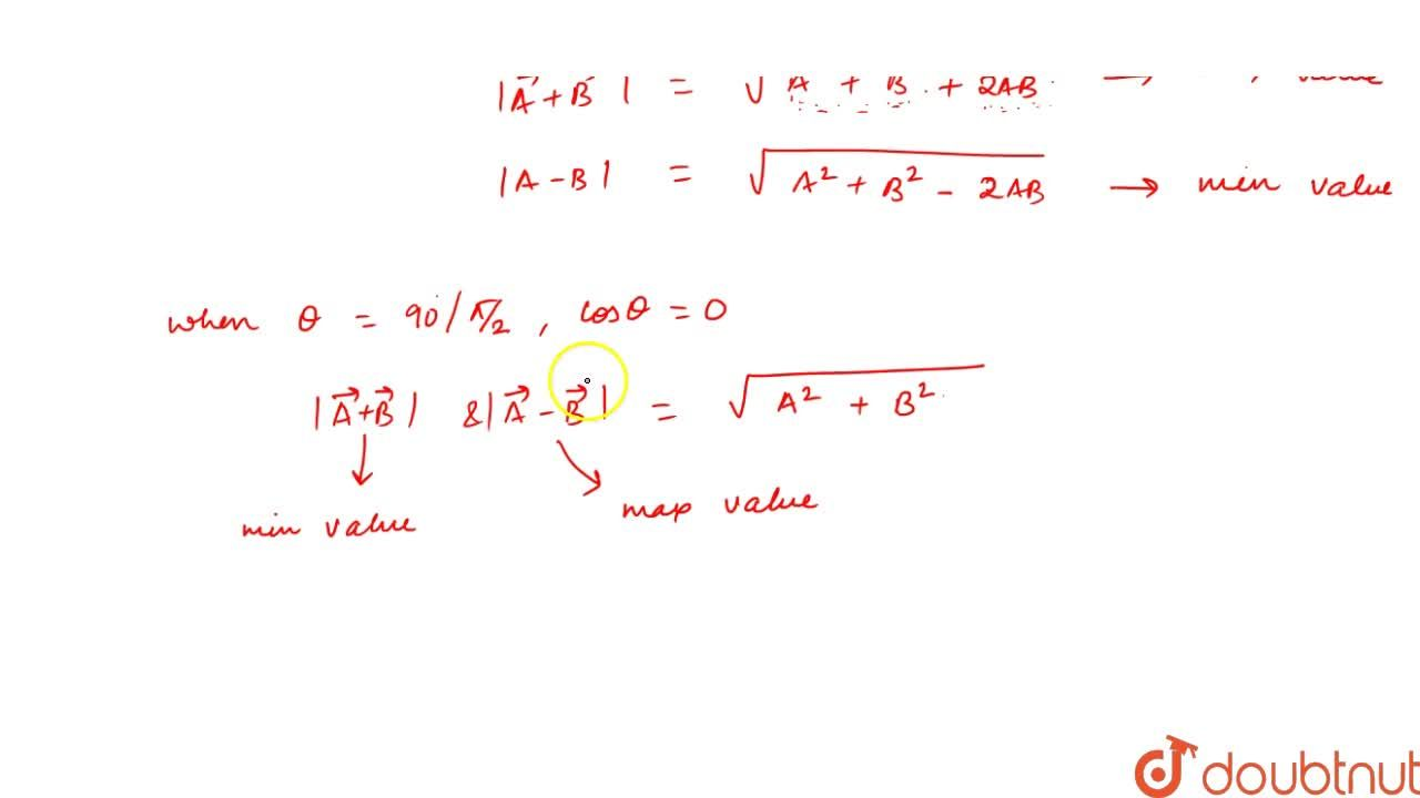 Solution for Subtraction Of Vectors