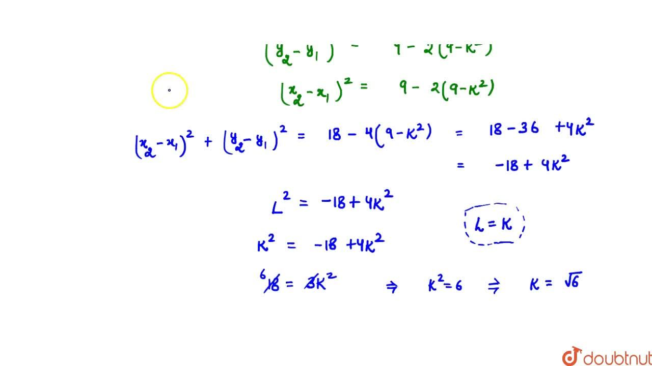 Solution for The chord along the line y-x=3 of the circle x^