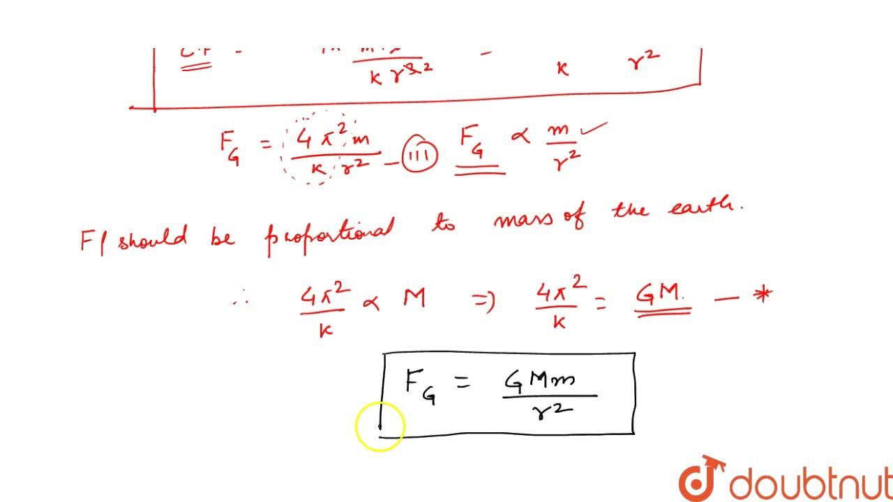 Solution for DEDUCTION OF NEWTON'S LAW OF GRAVITATION FROM KEPL