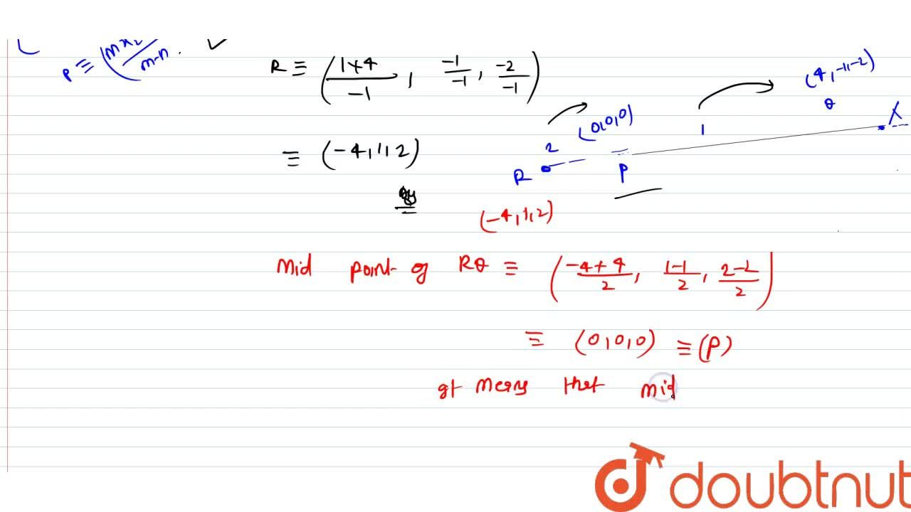 Solution for Find the coordinates of the point R which divides