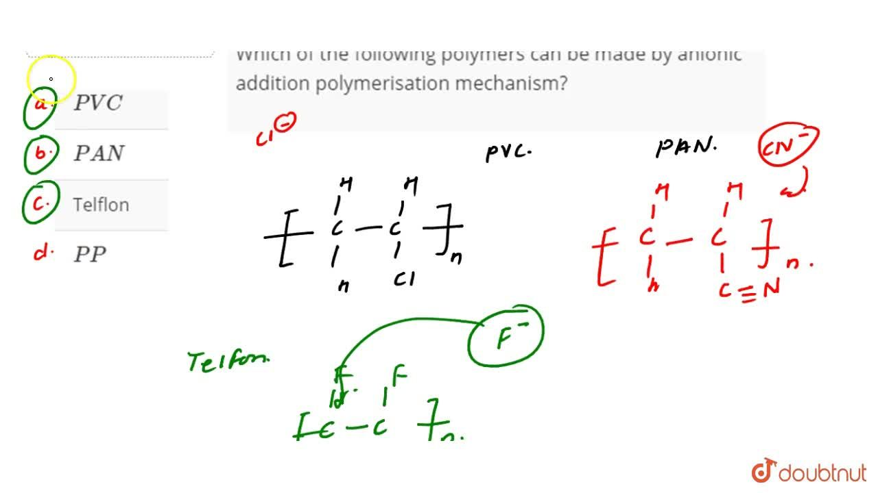 Solution for Which of the following polymers can be made by ani