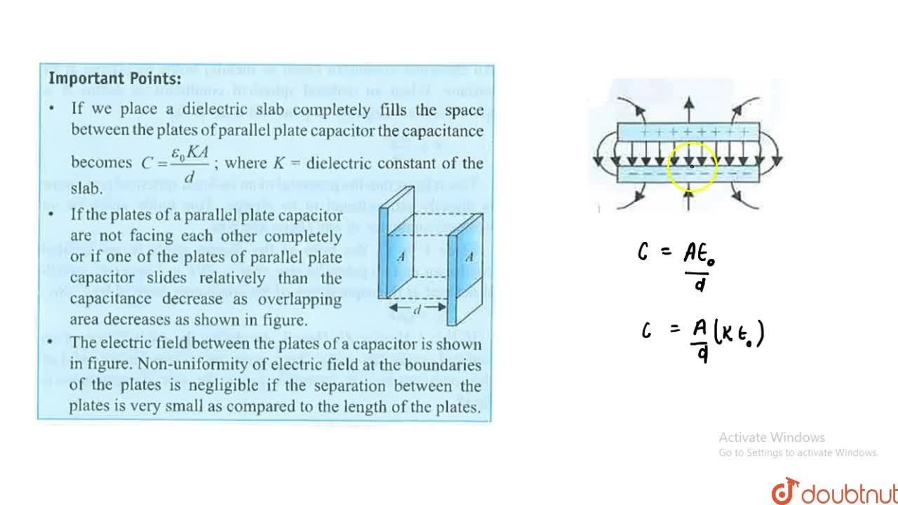 Solution for Parallel Plate Capacitor