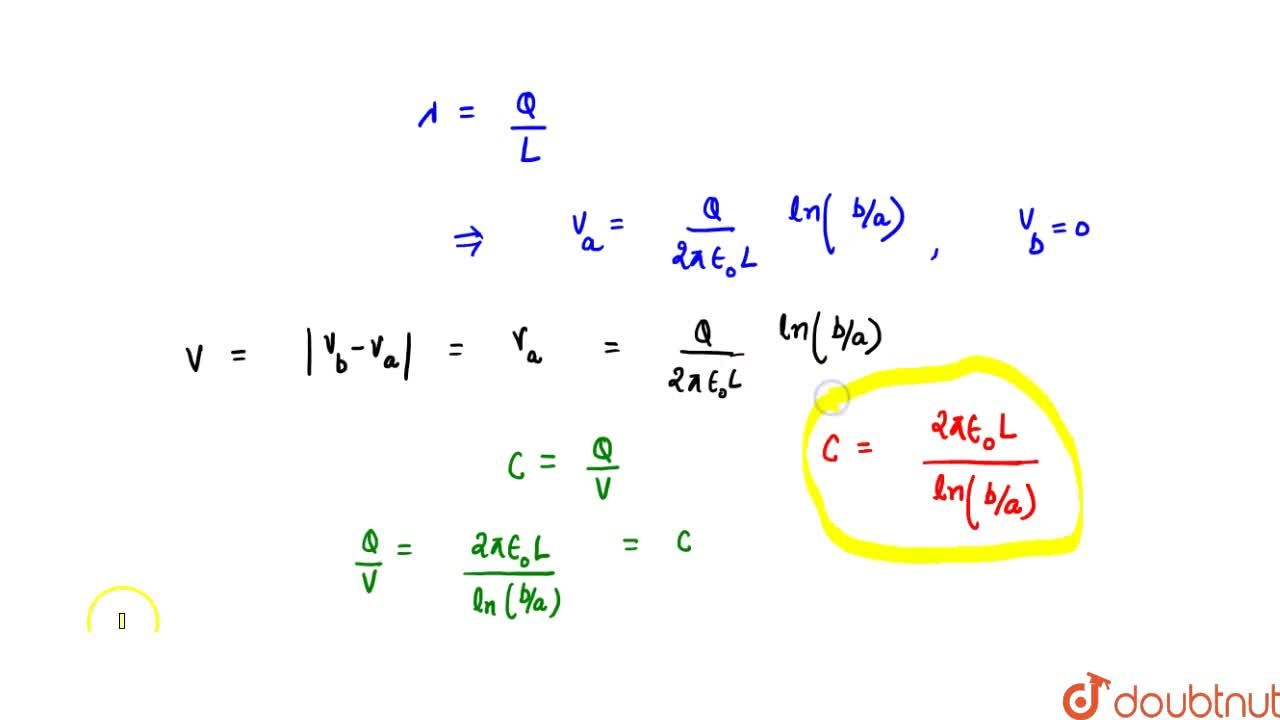 Solution for Cylindrical Capacitor