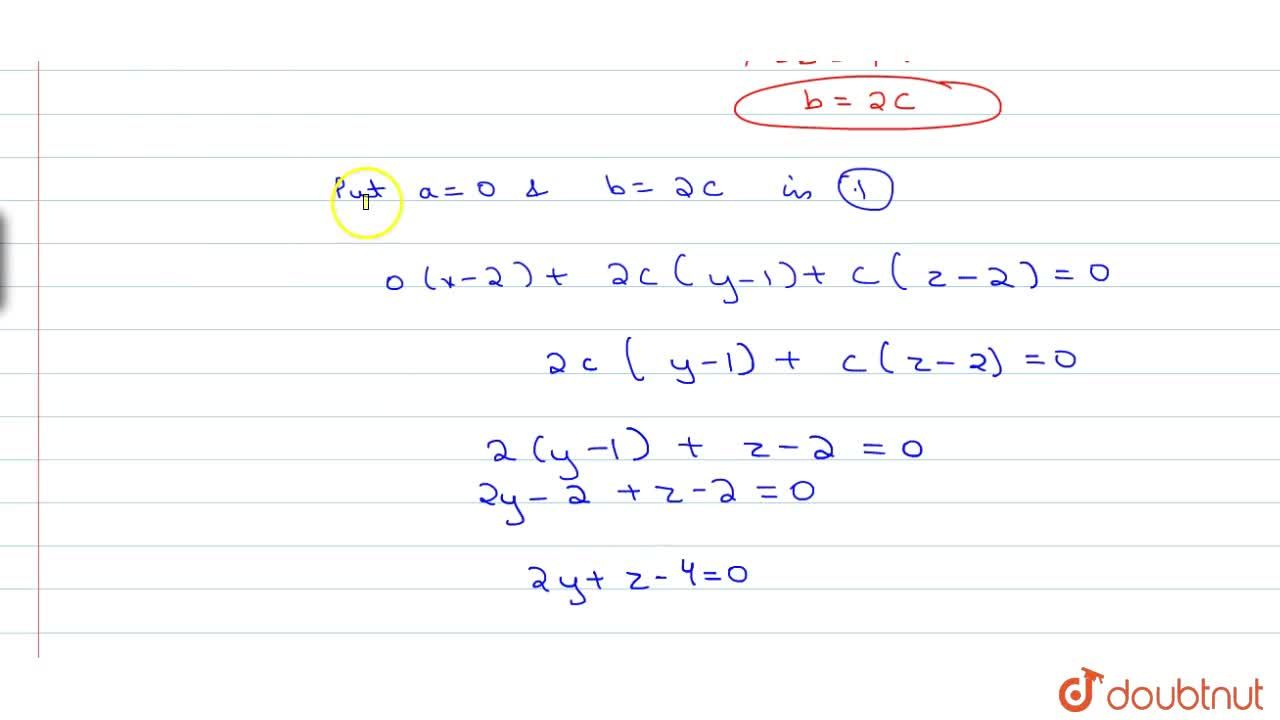 Solution for Find the equation of the plane passing through the