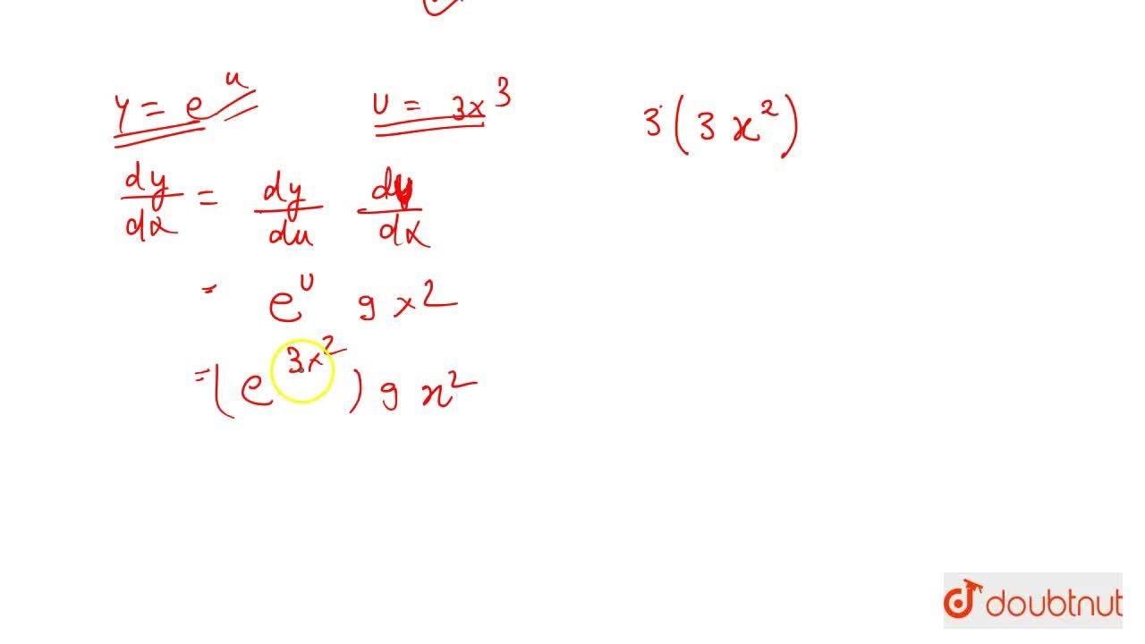Solution for Differentiation Of Exponential And Logarithmic Fun