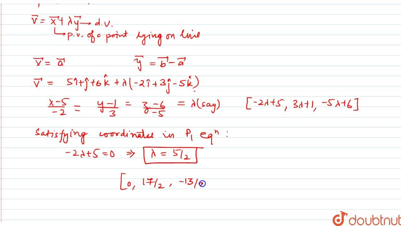 Solution for find the coordinates of thepint where the line thr